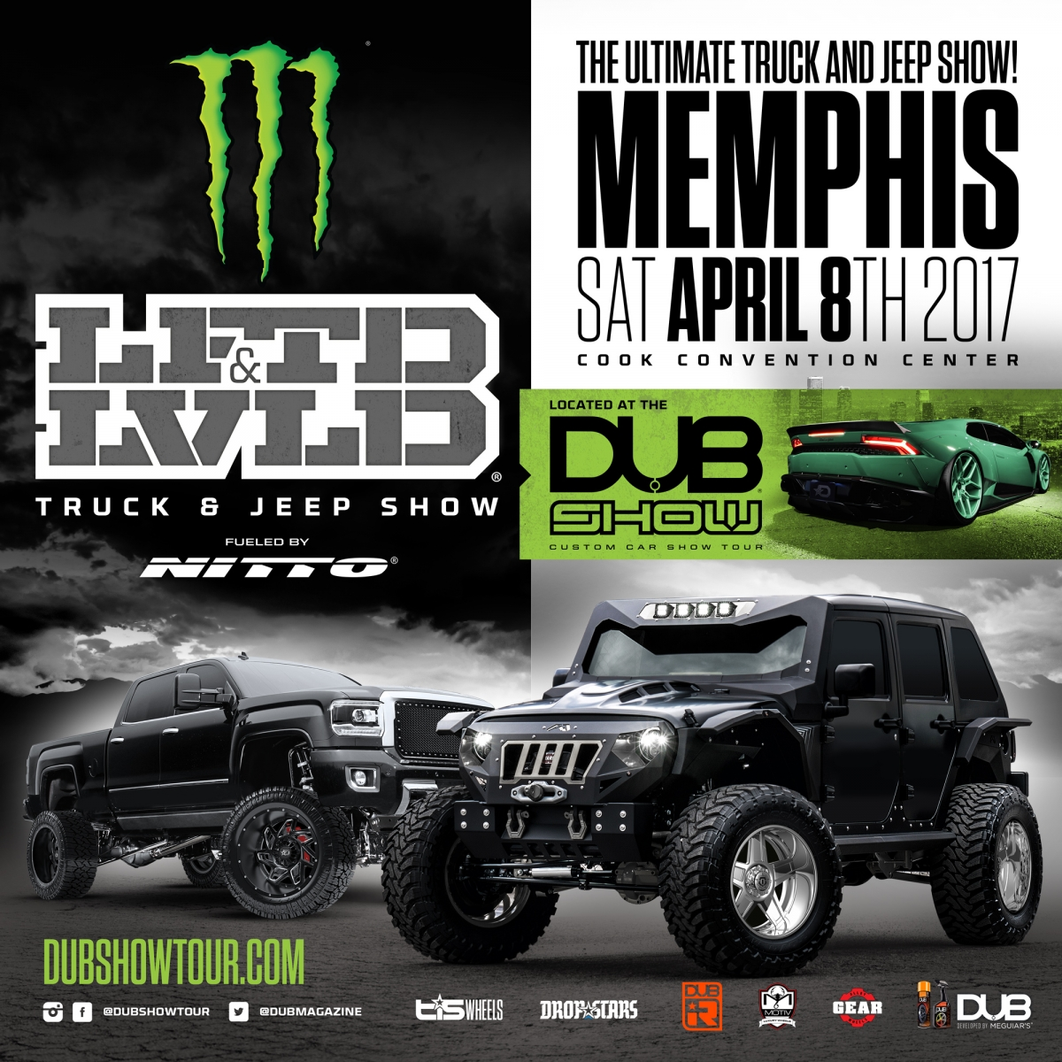 LFTDxLVLD Truck & Jeep Show inside The Monster Energy DUB Show | MEMPHIS - APRIL 8